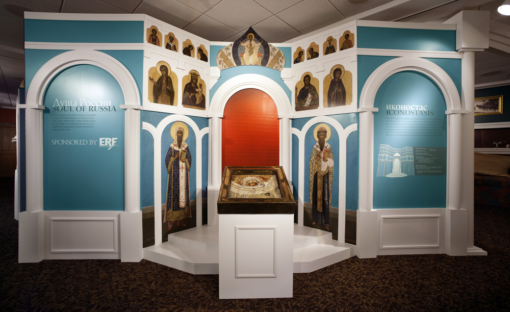 Iconostasis at the Faberge exhibit