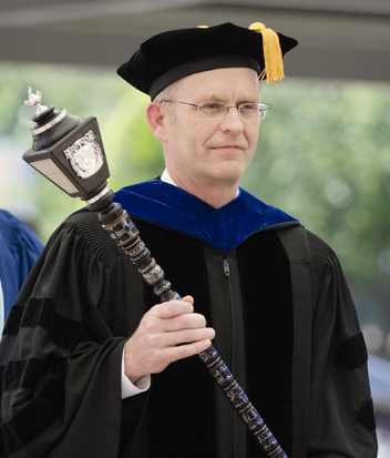 The mace in use at BJU 2015 Commencement